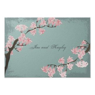 Carte de remerciements de mariage - fleurs de carton d'invitation 8,89 cm x 12,70 cm