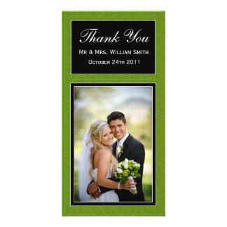 Carte de remerciements de mariage modèle pour photocarte