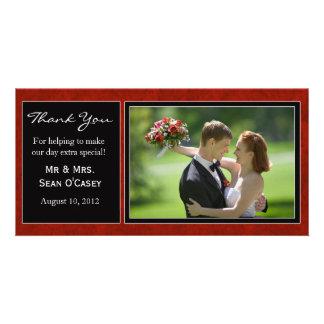 Carte de remerciements de mariage photocarte