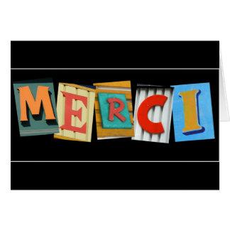 Carte de remerciements de MERCI