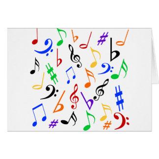 Carte de remerciements de musique