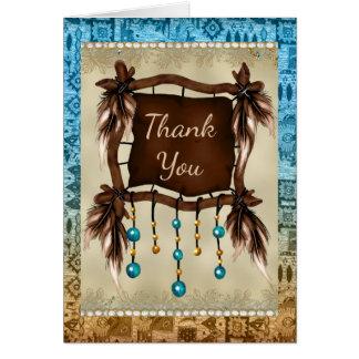 Carte de remerciements de Natif américain