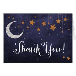 Carte de remerciements de nuit étoilée