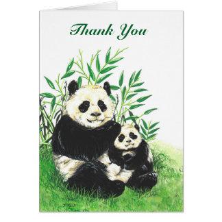 Carte de remerciements de panda
