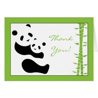 Carte de remerciements de panda moderne et de