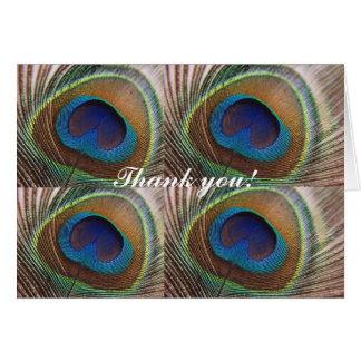 Carte de remerciements de paon