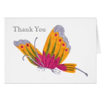 Carte de remerciements de papillon