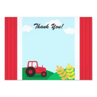 Carte de remerciements de partie d'anniversaire de carton d'invitation  11,43 cm x 15,87 cm