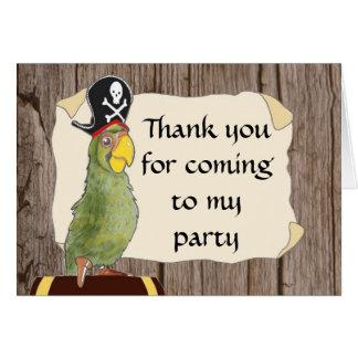 Carte de remerciements de partie de pirate
