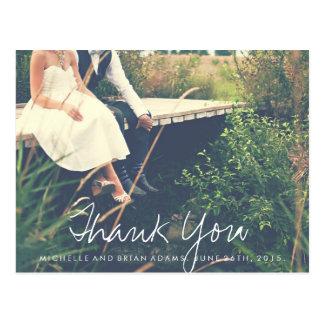 Carte de remerciements de photo de mariage carte postale