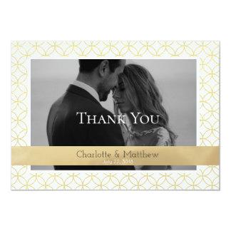 Carte de remerciements de photo de mariage de