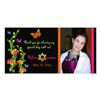 Carte de remerciements de photo de papillons au photocartes personnalisées