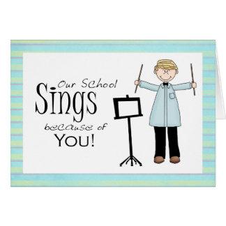 Carte de remerciements de professeur de musique
