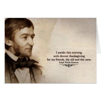 Carte de remerciements de Ralph Waldo Emerson