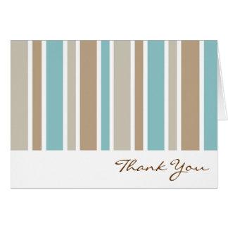 Carte de remerciements de rayures bleues