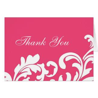 Carte de remerciements de remous de roses indien