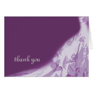 Carte de remerciements de robe de mariée,