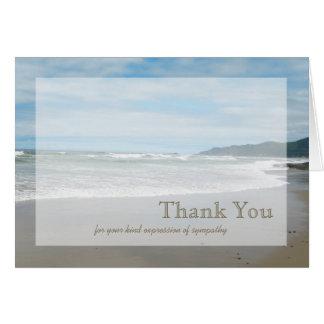 Carte de remerciements de sympathie