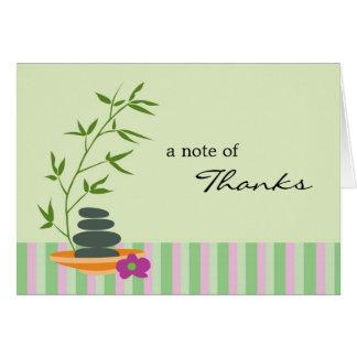 Carte de remerciements de thème de spa
