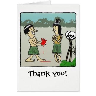 Carte de remerciements : De tout mon coeur !