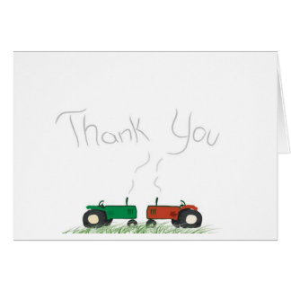 Carte de remerciements de tracteur