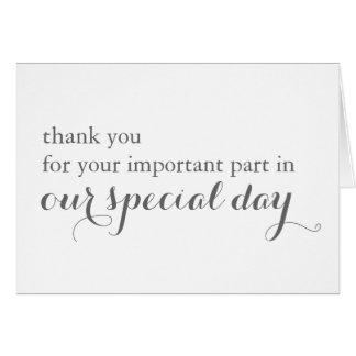 Carte de remerciements de vendeur de jour du