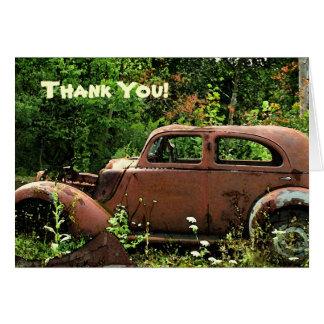 Carte de remerciements de voiture ancienne