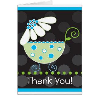 Carte de remerciements de voiture d'enfant de