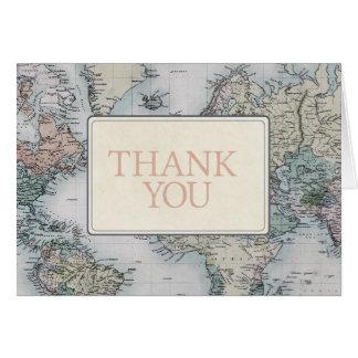Carte de remerciements de voyage