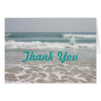 Carte de remerciements de vue d'océan