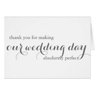 Carte de remerciements de wedding planner