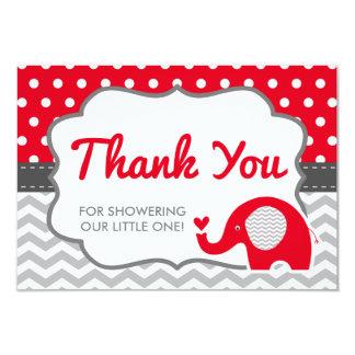 Carte de remerciements d'éléphant, COULEUR
