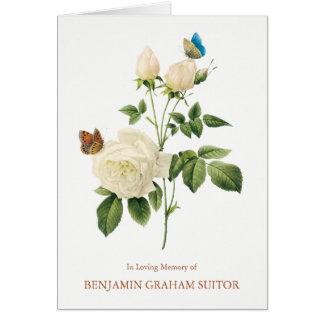Carte de remerciements d'enterrement de papillons