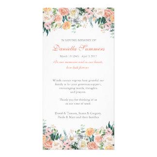 Carte de remerciements d'enterrement de sympathie photocartes personnalisées