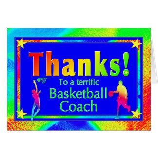 Carte de remerciements d'entraîneur de football