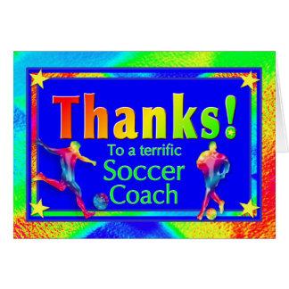Carte de remerciements d'entraîneur du football