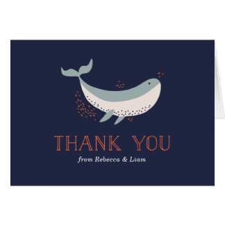 Carte de remerciements d'espèce marine