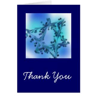 Carte de remerciements d'étoile bleue