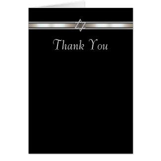 Carte de remerciements d'étoile de David