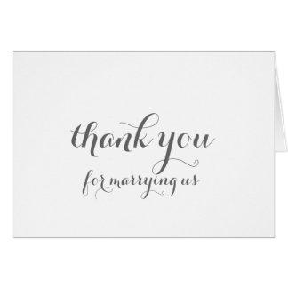Carte de remerciements d'Officiant