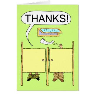 Carte de remerciements drôle : Papier hygiénique