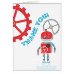 Carte de remerciements du robot |