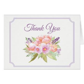 Carte de remerciements élégant de bouquet floral