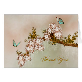 Carte de remerciements élégant de papillon
