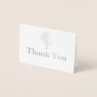 Carte de remerciements élégant d'hiver d'aluminium