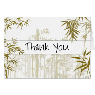 Carte de remerciements en bambou