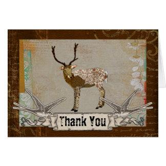 Carte de remerciements en bronze de mâle