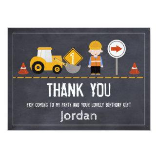 Carte de remerciements en construction de tableau