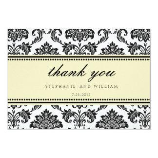 Carte de remerciements en ivoire de mariage de carton d'invitation