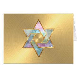 Carte de remerciements en pastel d'or d'étoile de